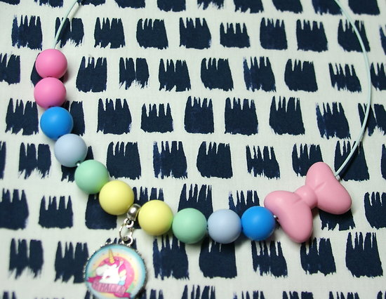 Collier enfant Licorne multicolore