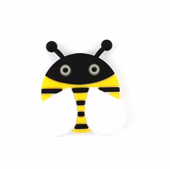 Perle abeille en silicone 38x26mm