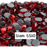 100 strass hotfix à facettes siam - 2,7-2,9mm/SS10
