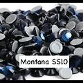 100 strass hotfix à facettes Montana - 2,7-2,9mm/SS10