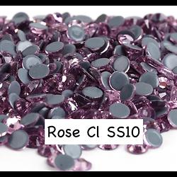 100 strass hotfix à facettes Rose cl - 2,7-2,9mm/SS10