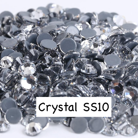 100 strass hotfix à facettes Crystal - 2,7-2,9mm/SS10