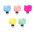 Clip Kitty en silicone alimentaire 40x52mm