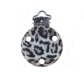 Clip rond imprimé léopard 35mm