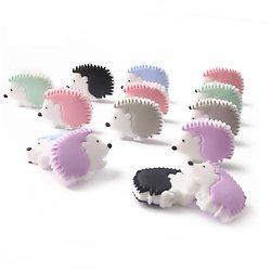 Perle hérisson en silicone alimentaire sans BPA 33x25mm