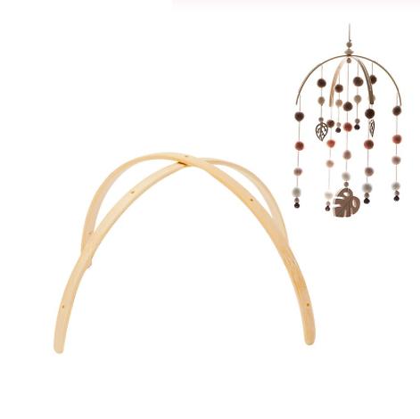 Arceaux en bambou pour mobile bébé