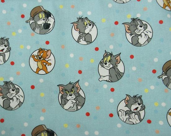 Drap de maternelle / serviette de cantine en coton  - imprimé Tom & Jerry