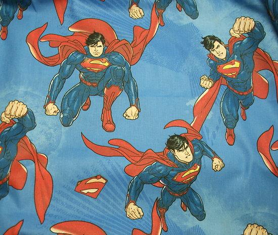 Drap de maternelle / serviette de cantine en coton  - imprimé Superman