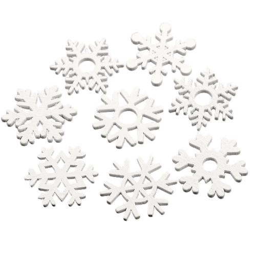 10 flocons de neige en bois - déco de Noël