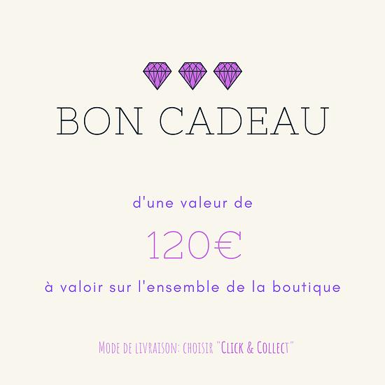 BON CADEAU 120€