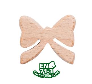 Perle noeud papillon en bois naturel sans solvant