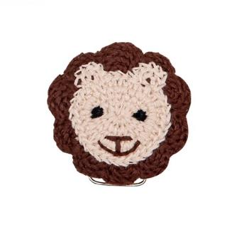 Clip lion au crochet 56x53mm
