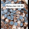 100 strass hotfix à facettes Pêche clair - 2,7-2,9mm/SS10