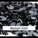 100 strass hotfix à facettes Blackjet - 2,7-2,9mm/SS10