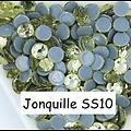 100 strass hotfix à facettes Jonquille - 2,7-2,9mm/SS10