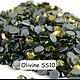 100 strass hotfix à facettes Olivine - 2,7-2,9mm/SS10