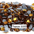 100 strass hotfix à facettes Topaze - 2,7-2,9mm/SS10