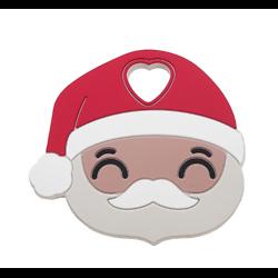 Anneau de dentition Père-Noël en silicone alimentaire sans BPA