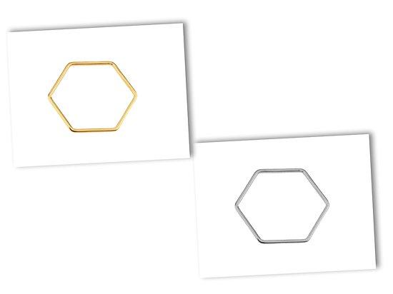 Connecteur hexagonal en acier inoxydable 23x20mm