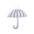 Breloque parapluie en acier inoxydable argenté 16x13mm
