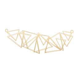 Connecteur suite de triangles en acier inoxydable doré 21x61mm