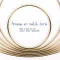 Anneau en métal doré pour composition / décoration / suspension