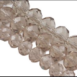 10 perles rondes en cristal de Bohème à facettes champagne 10mm