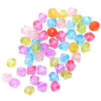 100 perles toupies multicolores en acrylique 4mm