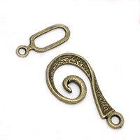 Fermoir spirale en métal couleur bronze