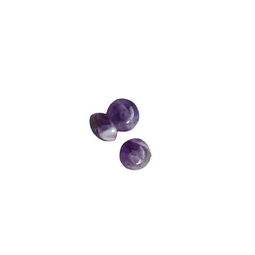 4 perles rondelles en améthyste 8x4mm