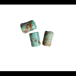 3 tubes de turquoise 12x7,5mm