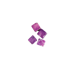 4 perles cube/losange en jade violette 6mm