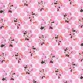 Drap de maternelle / serviette de cantine en coton  - imprimé Minnie à pois (3)