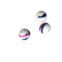 """5 perles rondes en acrylique """"coup de pinceau"""" 11mm"""