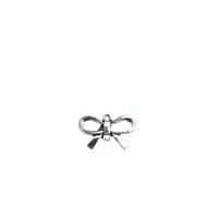 Connecteur noeud papillon en métal argenté 21x14mm