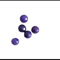 5 perles rondes d'agate violet à facettes 6mm