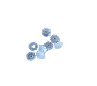 10 perles rondelles en verre irisée aigue-marine 6x2,5mm