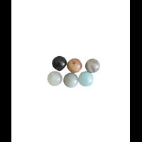 7 perles rondes en amazonite 6mm