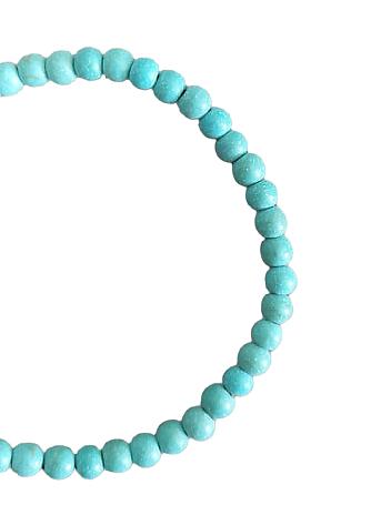 10 perles rondes en howlite turquoise 4mm