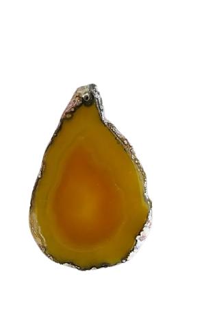 Grande tranche d'agate jaune 71x48x5mm
