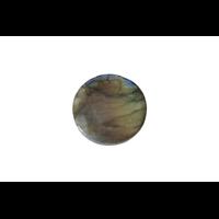 Pendentif cabochon rond de labradorite 23x6mm (F214)