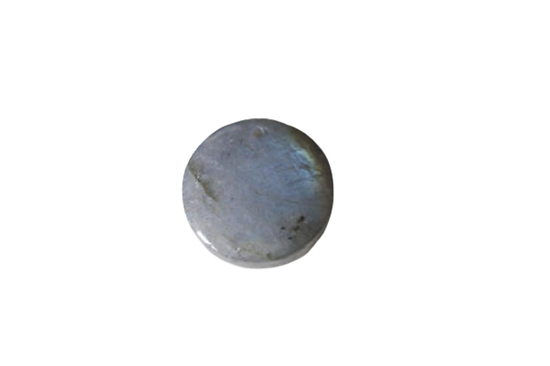 Pendentif cabochon rond de labradorite 19x7mm (G1188)