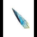 Pointe d'agate druzy bleu/vert 42x12mm (G155382)