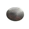 Grand pendentif ovale et spirale 47x38mm