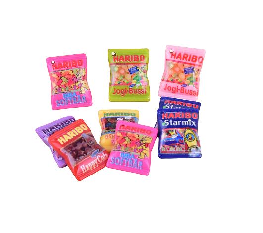 Breloque sachet de bonbon HARIBO en résine 19x29mm