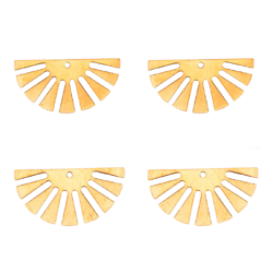2 breloques rayons de soleil en laiton doré 24x12mm