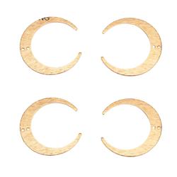 Connecteur croissant de lune en laiton doré 26x27mm