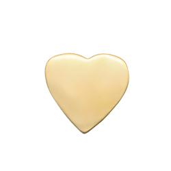 Perle coeur en acier inoxydable doré 8x7,6mm