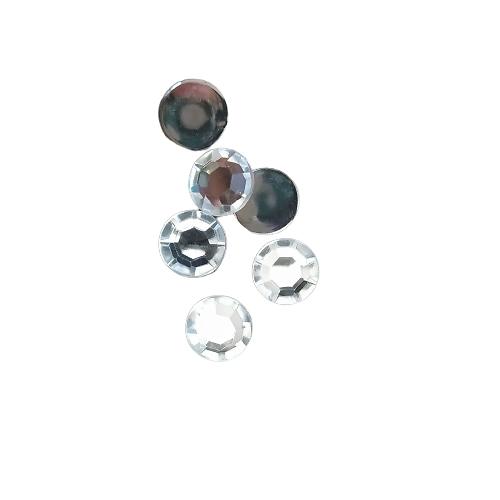 10 appliques strass ronds à facettes en acrylique transparent brillant 12mm