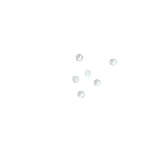 8 appliques demi-rond nacrées 3mm